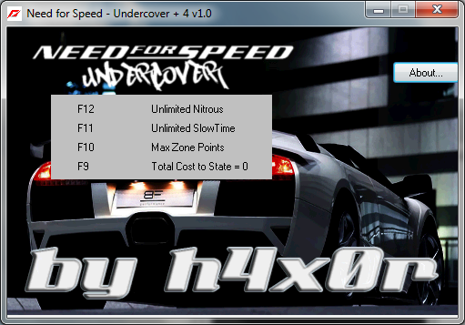 Трейнер +4 для Need for Speed: Undercover