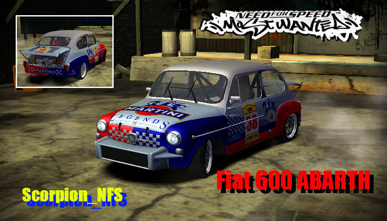 Fiat 600 ABARTH для NFS: Most Wanted