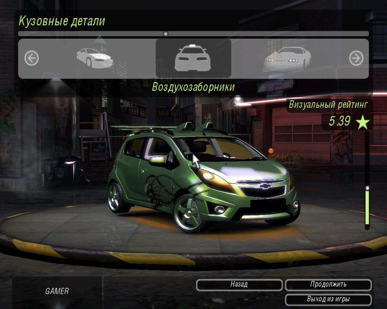Chevrolet Spark для NFS: Undergorund 2